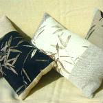 loungepuder med bambusmønster